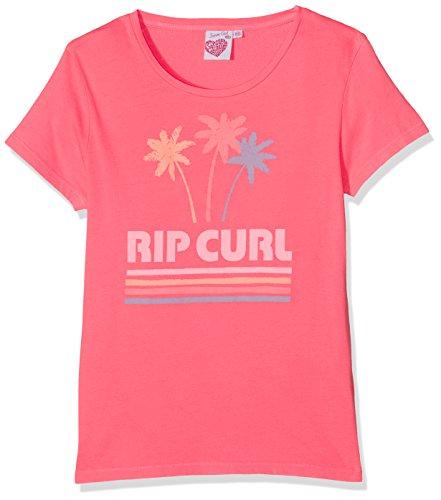 RIP CURL Ibiza Vibes Camiseta, Niñas, Rosa (New Fortaleza), L /14