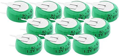 1.2V 80mAh Ni-MH 80H Botones Recargables Baterías Ni-MH 80H Power Car Card Taxi Pilos de Taxi-10 Piezas