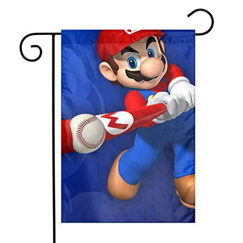 Super M-Ario Party Decorations Hanging Paper Pennant Banner Bunting Garland for Bachelorette Engagement Birthday Wedding Baby Bridal Shower Anniversary Garden Tea Party 12 * 18 Inch