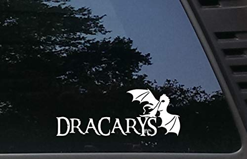 Dracarys - 8 1 2  x 3 1 4  die Cut Vinyl Decal for Windows, Cars, Trucks, Tool Boxes, laptops, MacBook - virtually Any Hard, Smooth Surface