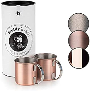 Buddy´s Bar - Moscow Mule kopp, 450 ml, högkvalitativ rostfri mugg, livsmedelssäker, cocktailmugg inklusive presentlåda, k...