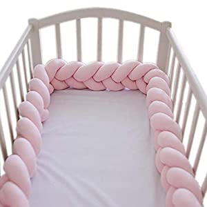 Soft Knot Pillow Decorative Baby Bedding Bumper Braided Protective Linear Pillow Cushion