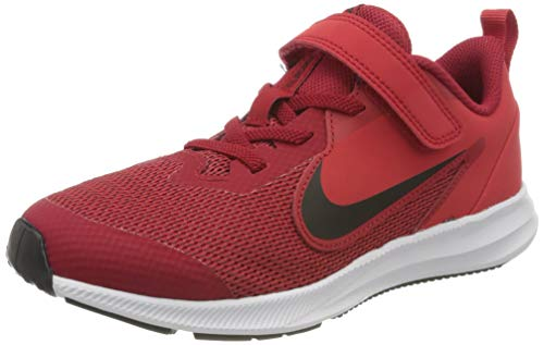 Nike Unisex-Kinder Downshifter 9 (PSV) Leichtathletikschuhe, Mehrfarbig (Gym Red/Black/University Red/White 000), 28 EU
