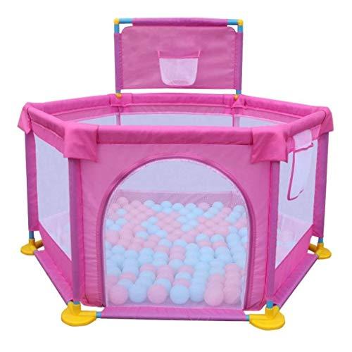 Hyzb Baby Fence Baby Child Clôture de Jeu Intérieur Toddler Safety Fence Home Jeu Maison Crawling Mat Fence (Color : Pink)