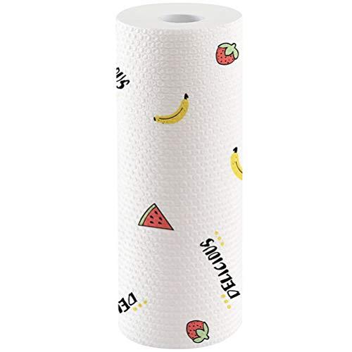 Jky 50 vellen keukenpapier handdoeken, herbruikbare reinigingsdoek, wegwerpreinigingspapier, milieuvriendelijk toiletpapier, doek, stof, sterk absorberend, b