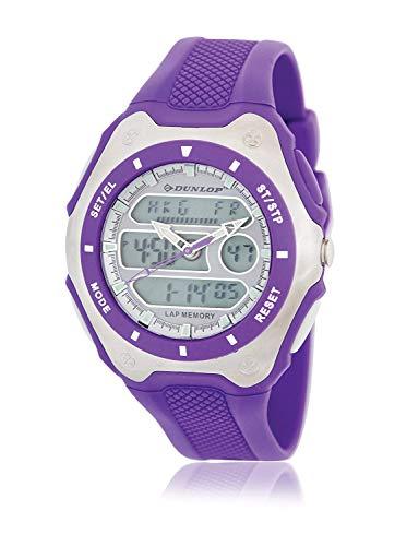 Dunlop Unisex Erwachsene Digital Quarz Uhr mit Gummi Armband DUN180G09