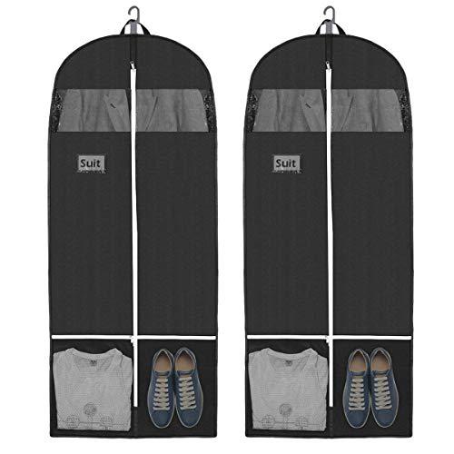 Cabilock Kleidersack Lang Anzugtasche Kleidersäcke Atmungsaktiv Wasserdicht Kleidersack Anzug Herren Kleiderhülle Schutzhülle Hochwertiger