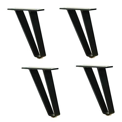 Metalen bankpoten Benen Hardware-accessoires voor kasten, salontafels, kasten, tv-kasten, badkamerkasten, zwart, 18 cm