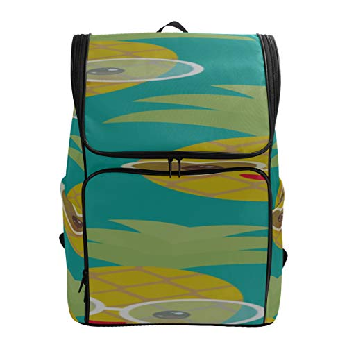 Sun And Hibiscus Stripes College Bag Girls Best Hiking Bag Sport Gym Bag For Women Backpacks Daypack Fits 15.6 Inch Laptop And Notebook Womans Hiking Bag Slim Backpack For Men