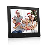 NASICOUR Digital Picture Frame 8 Inch Motion Sensor Multifunction Electronic Photo Frame High Resolution 1024x768 Slideshow Remote Control IPS LCD /1080P Video Player/Stereo/MP3/Calendar/Clock