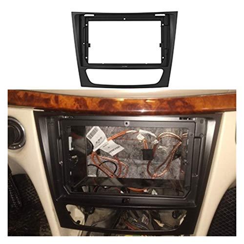 1/2Din Car CD DVD Frame Adaptador de montaje de audio Dash Trim Kits Panel de Facia 9 pulgadas Ajuste para BENZ E-Class W211 1999-2007 (negro)