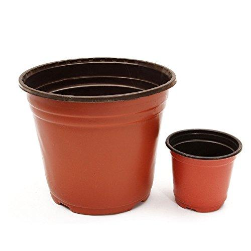MJJEsports 50 Stks Plastic Kwekerij Pot Bloempot Plant Zaailingen Planter Potten Containers 2 Maten, L, 1