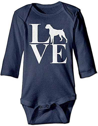 FGRFQ Babybekleidung Toddler Baby Love Boxer Dog Romper Playsuit Outfit Clothes