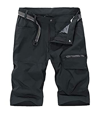 MAGCOMSEN Mens Cargo Shorts Relaxed Fit Work Shorts Men Tactical Shorts Polo Shorts Quick Dry Shorts Hiking Shorts Fishing Shorts Summer Shorts for Men Dark Grey