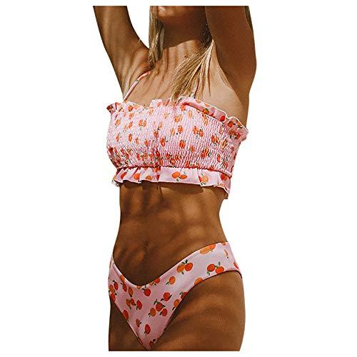 YANFANG Bikini de Ropa de Playa Dividida de Estilo Fresco con Espalda Abierta y Sexy para Mujer,Traje de Baño de Atleta Profesional Traje para Playa Ropa Deportivo para Natación