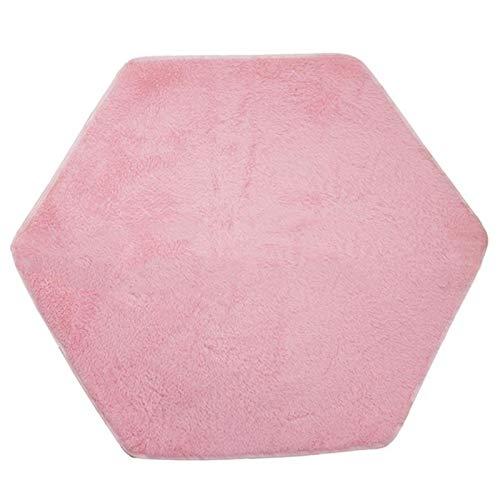 Alfombrilla hexagonal para carpa, alfombrilla de princesa hexagonal rosa, alfombrilla suave de coral, alfombra para tienda de juegos para niños, manta para juegos para bebés, alfombrilla para escalar