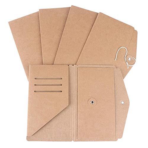 Heng handgemaakte kraftpapier bestand houder voor reizen Notebook accessoire Vintage Retro Card Pocket opslag standaard zak paspoort