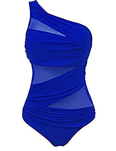 FeelinGirl Mujer Monokini con Uno/Dos Tirantes Traje de Baño de Una Pieza Talla Grande