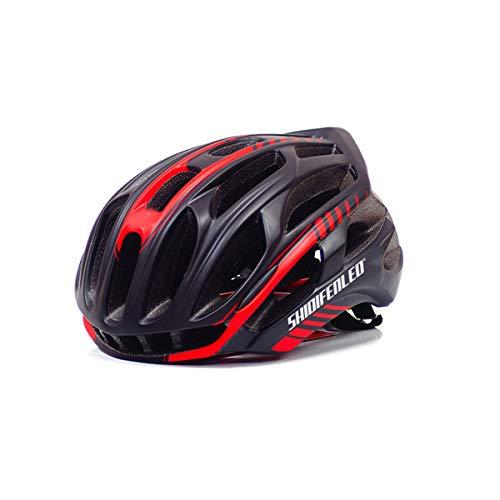 Casco unisex adulto bicicletta Savant misura regolabile bicicletta da strada accessori per bici da strada con fanale posteriore per uomo donna ciclismo strada mountain bike (nero rosso)