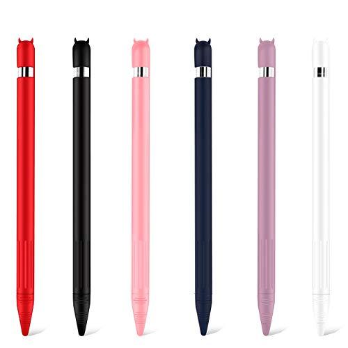 A capa protetora anti-perda é adequada para apple pencil Primeira geração segunda geração, TwiHill, capa de caneta stylus de silicone, toque antiderrapante(Adequado para lápis apple 1ª/2ª geração) (Pó Adequado para 1ª geração)