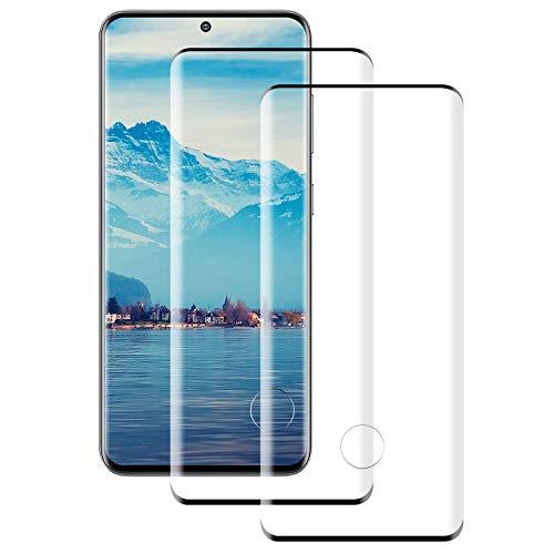 DASFOND [2 Unidades Samsung S20 Cristal Templado (3D Curvo), Protector de Pantalla para Samsung S20, 9H Dureza, Sin Burbujas, Anti-Huellas, Alta Transparencia