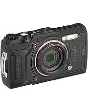 Olympus Tough TG-6 digitale camera (12 MP, 25-100 mm 1: 2, 0 lens, GPS, manometer, temperatuursensor, kompas) zwart