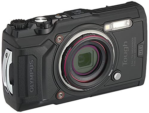 Olympus Tough TG-6 Cámara de Acción, 12 Megapíxeles, Estabilización de Imagen Digital, 4x Zoom de Gran Angular, Vídeo 4K, 120fps, Wi-Fi, Negro