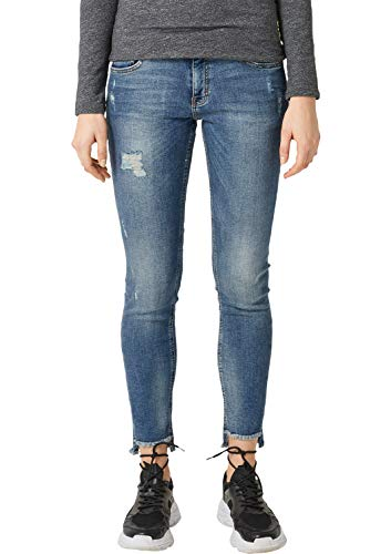 Q/S designed by - s.Oliver Damen 4E.995.72.4909 Slim Jeans, Blau (Blue Denim 54z1), 36