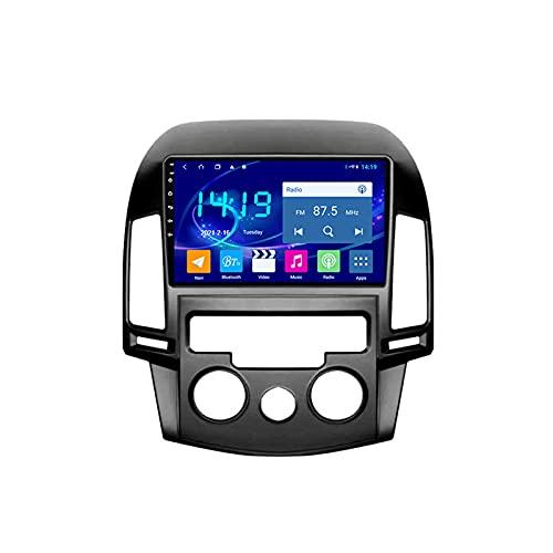 WXFN Doble DIN 2.5D Pantalla Tactil Car Stereo Reproductor Multimedia, para Hyundai I30 2007-2012 con Cámara De Visión Trasera, Soporte BT/SWC/FM/Am/USB/AUX IN/Mirror Link,Quad Core,WiFi 1+16