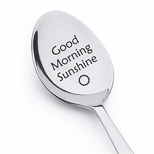 good morning sunshine Löffel–Gravur Kaffee Löffel–Besteck spoon-christmas Geschenk Ideen von Boston Creative Company LLC