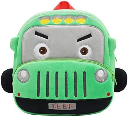 Cute Toddler Backpack Kid Bag Plush Cartoon Car Series Mini Travel Bag for Baby Girl Boy