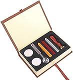 Retro Wax Seal Stamp Kit, Magic School Badge Sealing Wax Seal Stamp Set for DIY Wedding Invitations Decor Ancient Wax Stamp Craft