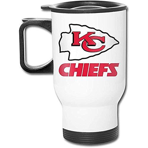 Kansas City Chiefs Auto Griff Cup-Edelstahl Reise Auto Becher mit Griff, Auto, Cafe, Büro, Zuhause, etc.