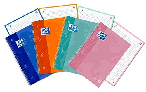 Oxford Classic 400053289 Cuadernos espiral spiral microperforado de tapa...