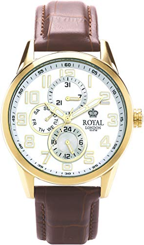 Royal London Herrenuhr Multifunktion mit Lederband 41044-05