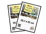 3B Conjunto de 2 Piezas Foto - de plástico Marco de Foto 29.7x42 cm (A3) - Negro