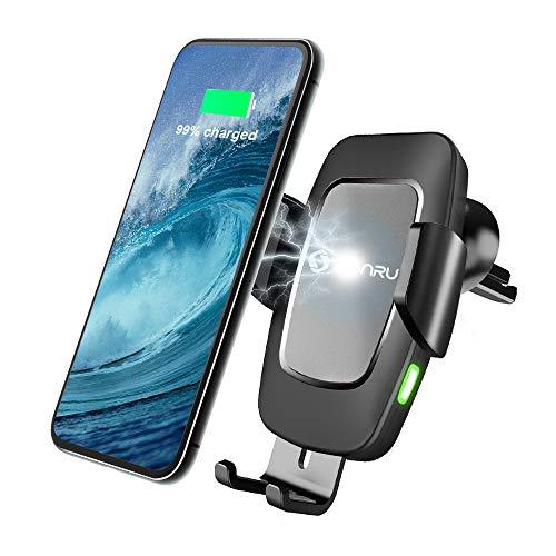 SONRU Wireless Charger Auto, Qi Handyhalterung KFZ Induktion Ladegerät Lüftung & Armaturenbrett Kompatible 7,5W/10W Fast Charging für iPhone11/Max/XS/8, Galaxy S10/9/8/Note 10 usw