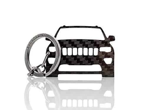 BlackStuff Portachiavi in Fibra di Carbonio Compatibile con Grand Cherokee 2014-2019 BS-620