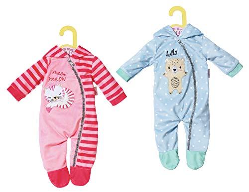 Zapf Creation Dolly Moda Onesies 2 sortierter Schlafanzug für Puppen, 43 cm, Zubehör für Puppen, mehrfarbig, 39 cm, 46 cm, 250 mm