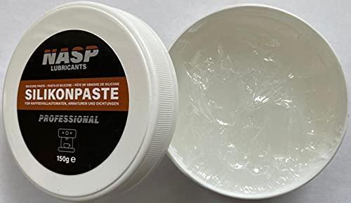 NASP Graisse silicone professionnelle pour machines à café automatiques - 150 g - Joints toriques - Joints transparents - Graisse lubrifiante - Pour machines à café - Entretien du caoutchouc