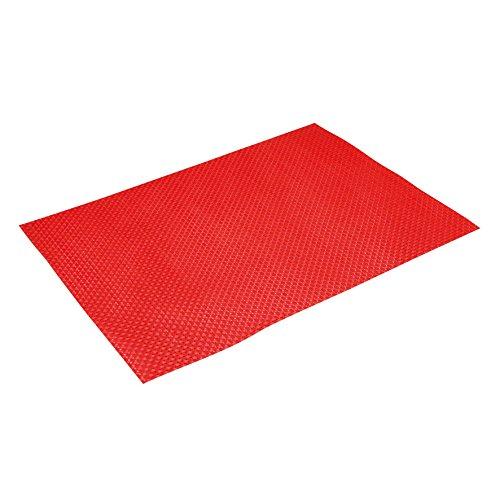 Delys-By-Verceral 513908 Set de Table, Plastique, Rouge, 1,2 x 1,07 x 40 cm