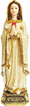 Rosa Mystica Our Lady of Mystical Rose Handmade Rosary Statue 12 Inch Resin Figurine Virgen Maria La Rosa Mistica (12 Inches)