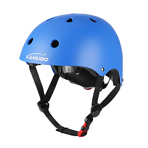 KAMUGO Kids Adjustable Helmet, Suitable for Toddler Kids Ages 3-8 Boys Girls, Multi-Sport Safety Cycling Skating Scooter Helmet (Blue)