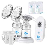 Bellababy - Bomba de lactancia portátil de silicona con tapa, sin BPA y 100% silicona de grado alimenticio, pequeña y discreta bomba de leche materna Blanco-02