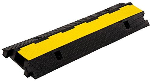 Pronomic Protector 1-100 Kabelbrücke 1-Kanal mit Steckverbindung 100 x 26 x 7 cm +/- 1% schwarz/Signalgelb (Kanalmaß B x H: 75 x 45 mm, Material: Kautschuk/Kunststoff, Gewicht: 9,2 kg)