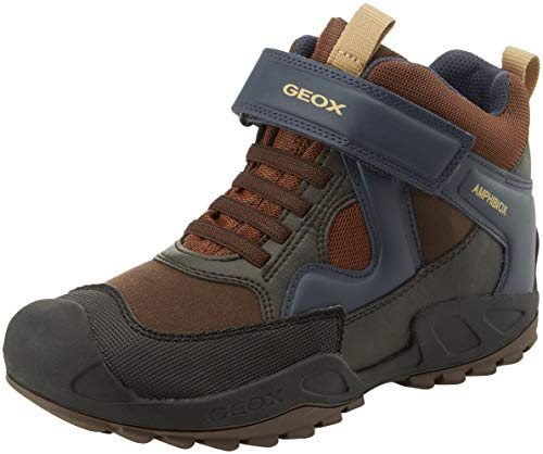 Geox Jungen J New Savage Boy B A Hohe Sneaker, Braun (Brown/Navy C0947), 32 EU
