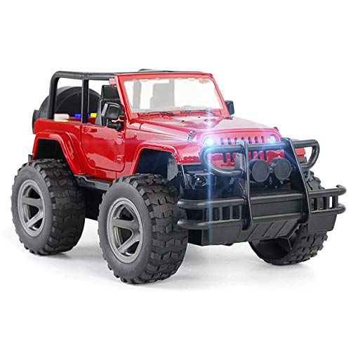 YesToys Car Toy Off-Road Military Fighter Friction Powered Toy Vehicle with Fun Lights & Sounds