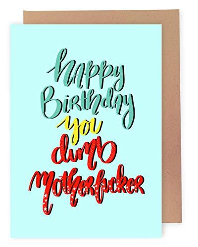 Sleazy Greetings Lustige Geburtstagskarte für Männer   beleidigende unhöfliche Geburtstagskarte   ehrliche unangemessene freche Geburtstagskarte für Ehemann, Vater, Freund mit passendem Umschlag