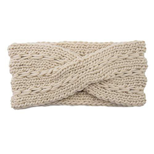 Headbands for Womens Warm Knitting Bow Headband Elasticity Sports Yoga Gym Exercising Running Headband for Washing Face makeup Single Trendy Soft(One Size,E)