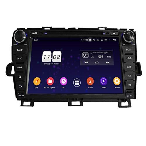 8 Pulgadas Pantalla Táctil Android 9.0 Autoradio DVD Reproductor para Toyota Prius(2009-2014) LHD, 4 GB RAM 32 GB ROM, Navegación GPS Bluetooth Dab+ Radio